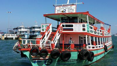 เรือข้ามฟากไปเกาะล้าน สถานที่ท่องเที่ยวพัทยา