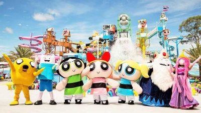 สวนน้ำ Cartoon Network Amazone ที่เที่ยวใกล้กรุงเทพ